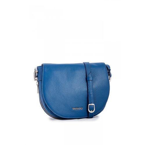 Klasyczna listonoszka w niebieskim kolorze - marki Franco bellucci