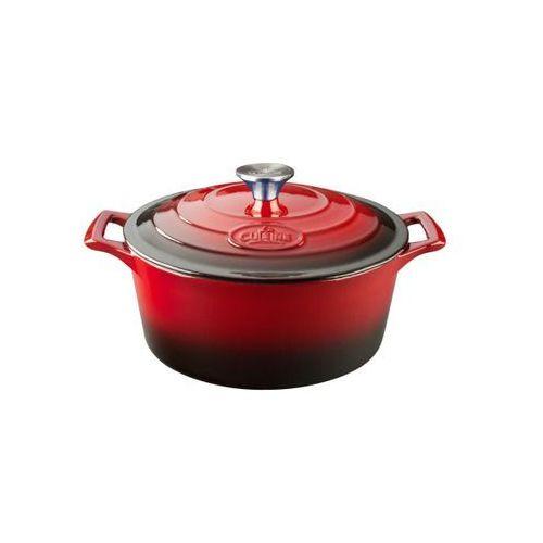 - garnek żeliwny okrągły pro 26cm 4.75l czerwony marki La cuisine