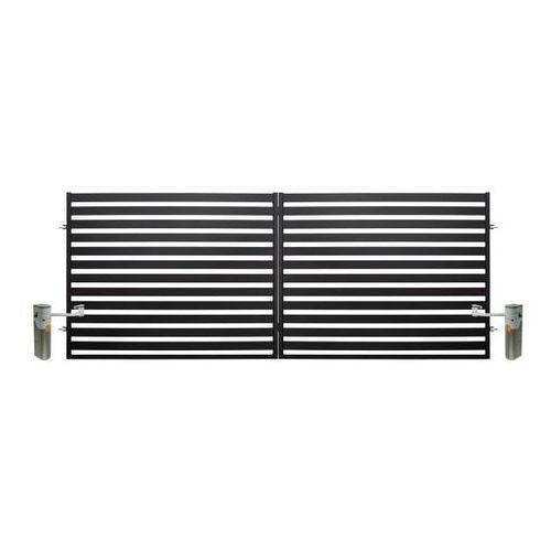 Polbram steel group Brama dwuskrzydłowa z automatem lara 2 4 x 1,54 m czarna (5901122310426)