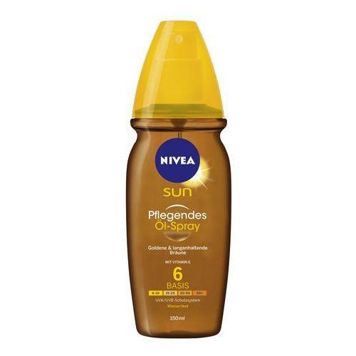 Nivea sun sun olejek ochronny do opalania w sprayu spf 6 (vitamin e) 200 ml