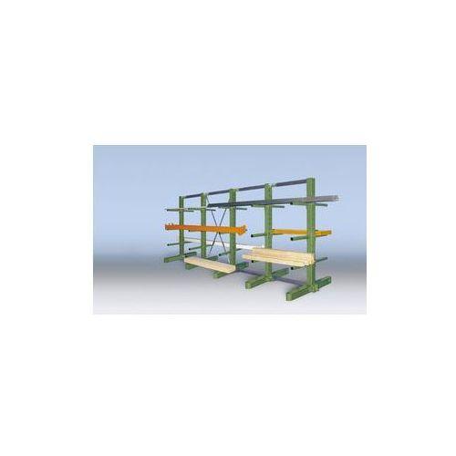 Kompletny regał wspornikowy, wersja superciężka,wys. stojaka 2700 mm, dwustronna