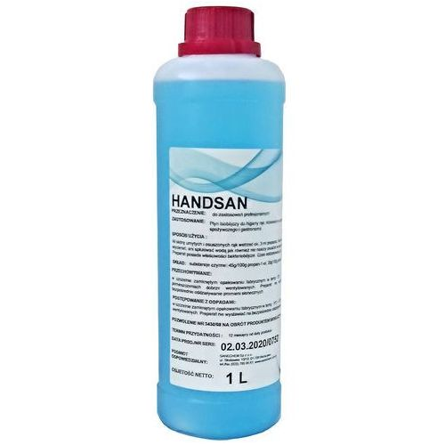 Sanechem handsan (1 litr) - płyn biobójczy do higieny rąk (2008010010000)