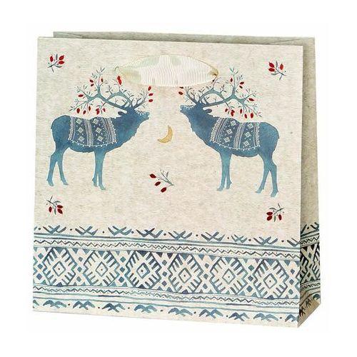 Paw decor Torebka na prezenty ethno deers 6 x 17 cm