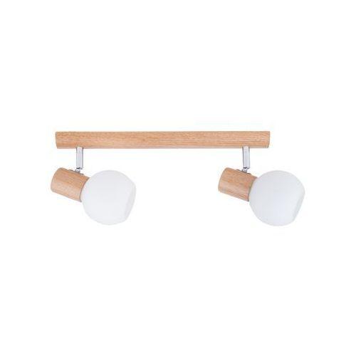 Listwa lampa oprawa sufitowa spot light karin 2x40w e14 dąb/chrom/biały 2231270 marki Spotlight