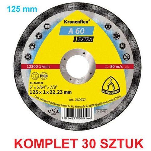 Tarcza do cięcia stali a60 extra 125x1mm -30 sztuk marki Klingspor - OKAZJE