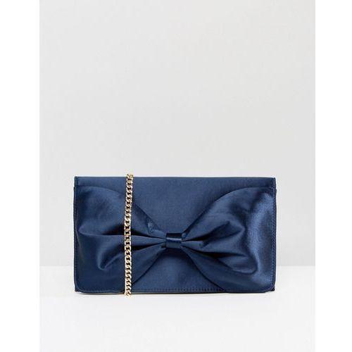 twist bow clutch bag - navy marki Miss kg