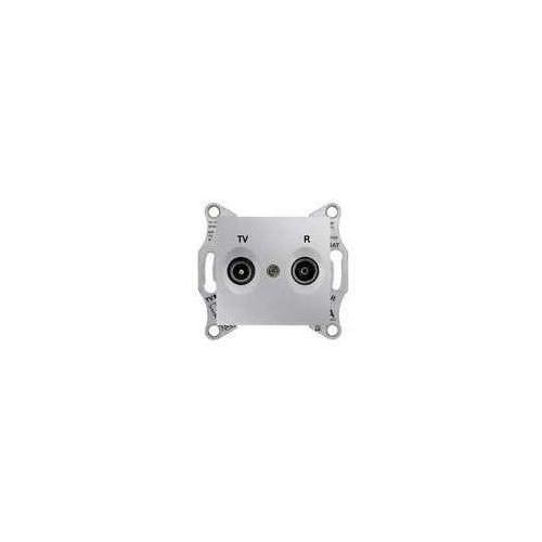 Schneider electric Gniazdo antenowe schneider sedna sdn3301660 r/tv końcowe 1db aluminium