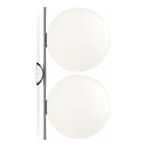 Ic-kinkiet ścienny lub plafon 2-punktowy metal/szkło wys.62cm marki Flos