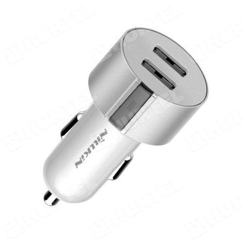 NILLKIN uniwersalna ładowarka samochodowa 2 x USB 3.4A srebrna - Srebrny z kategorii Pozostałe akcesoria samochodowe