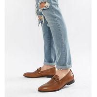 wide fit loafers in brown leather - tan, Dune