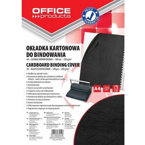 Office products Okładki do bindowania , karton, a4, 250gsm, skóropodobne, 100szt., czarne
