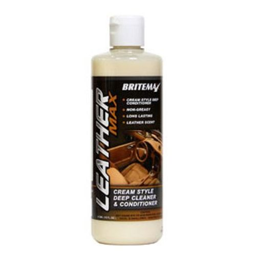 Britemax Leather Max - Cleaner & Conditioner 473ml For both Leather & Vinyl Trim
