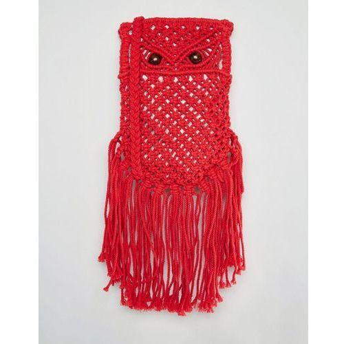 crochet cross body bag in red - red marki Glamorous
