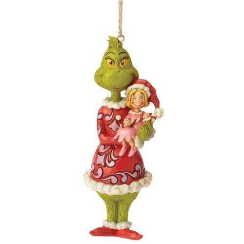 """Grinch zawieszka z bajki """"Grinch Świąt nie będzie"""" Grinch Holding Cindy Lou (Hanging Ornament) 6002072 Jim Shore figurka dekoracja pokój dziecięcy"""