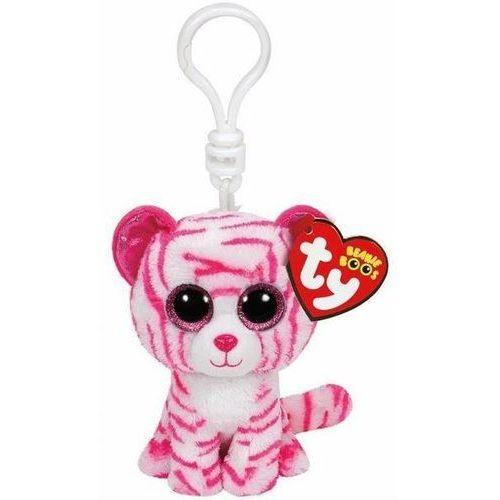 Ty beanie boos asia - biało-różowy tygrys - brelok