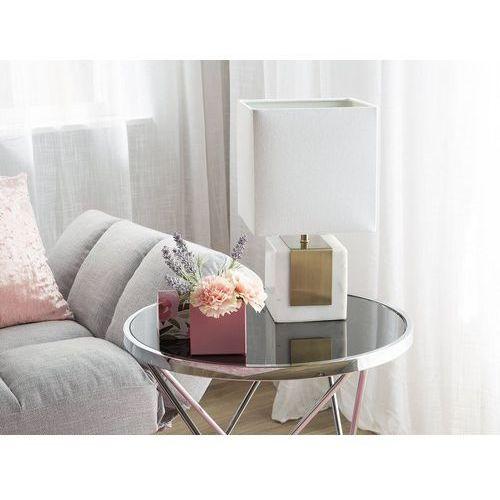Beliani Lampa stołowa biała 44 cm parral