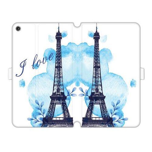 Huawei mediapad t3 8.0 - etui na tablet wallet book fantastic - niebieska wieża eiffla marki Etuo wallet book fantastic