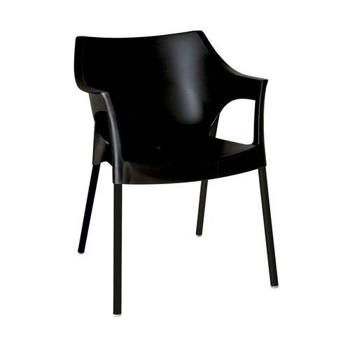 Krzesło Pole Deluxe czarny, kolor czarny