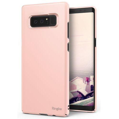Etui Ringke Slim Samsung Galaxy Note 8 Peach Pink, kolor różowy