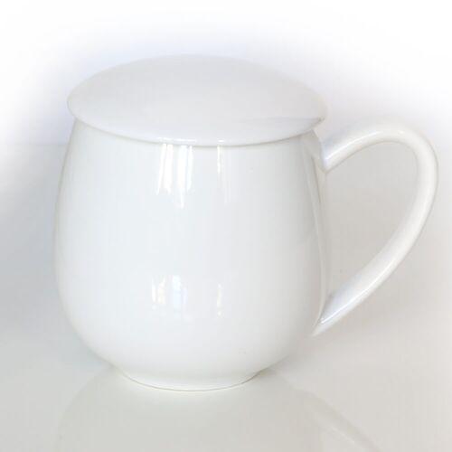 Cup&you cup and you Kubek z zaparzaczem i pokrywką biały – idealny zestaw do przygotowania herbaty, perfekcyjny podarunek prezent dla mamy, taty, babci, dziadka