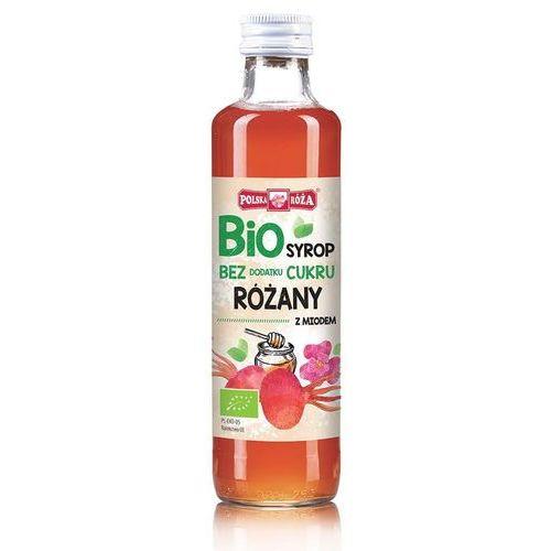 Bio syrop malinowy z miodem bez dodatku cukru 250ml marki Polska róża