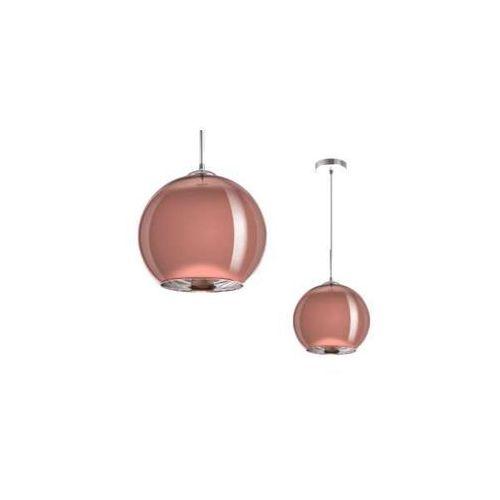 Light prestige Miedziana lampa wisząca rame lp-2014/1p l metalowa oprawa zwis kula ball miedź (5907796363157)