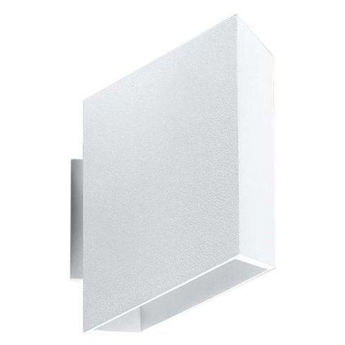 Kinkiet LAMPA ścienna SOL SL.376 prostokątna OPRAWA metalowa biała