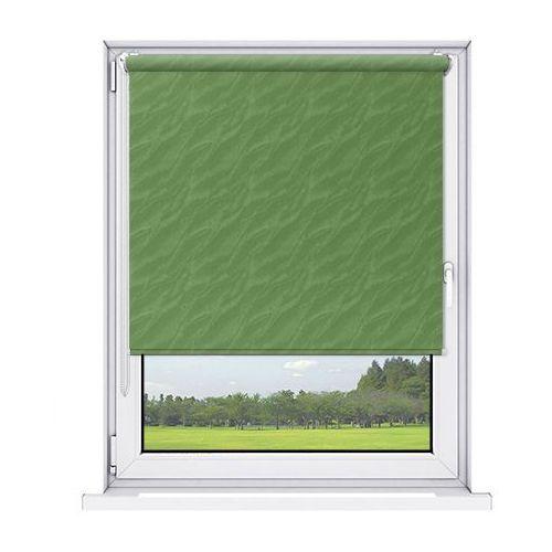 Roleta mini aqua (żakardowa) - green / biały marki Karnix