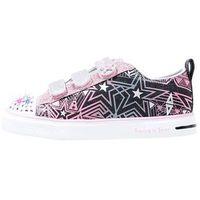 Skechers TWINKLE BREEZE COMET CUTIE Obuwie na rzepy black/silver/pink