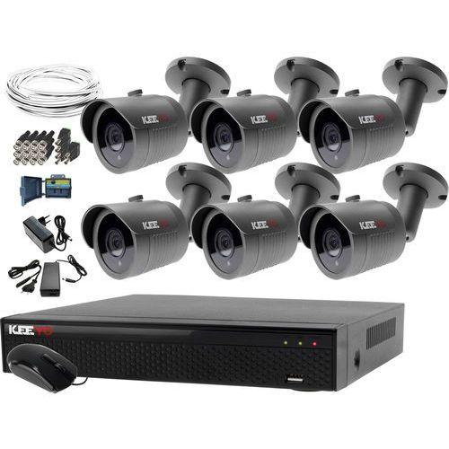 Keeyo Monitoring domu jednorodzinnego zestaw rejestrator lv-xvr84n-ii 6x kamera lv-al30ht akcesoria