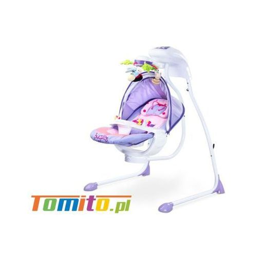 Caretero Huśtawka elektryczna bujaczek dla dzieci bugies purple