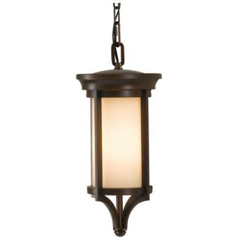 Zewnętrzna lampa wisząca fe/merrill8/s feiss metalowa oprawa ogrodowy zwis ip23 outdoor ciemny brąz kremowa marki Elstead