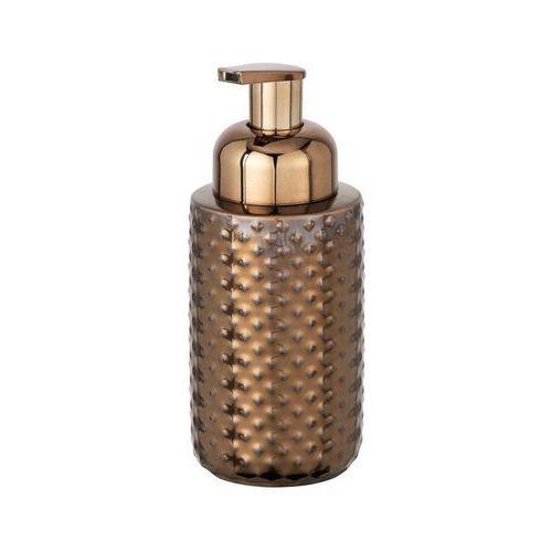 Dekoracyjny dozownik do spienionego mydła, z pompką, pojemnik na mydło,kolor miedziany, ceramiczny, spienione mydło (4008838233313)