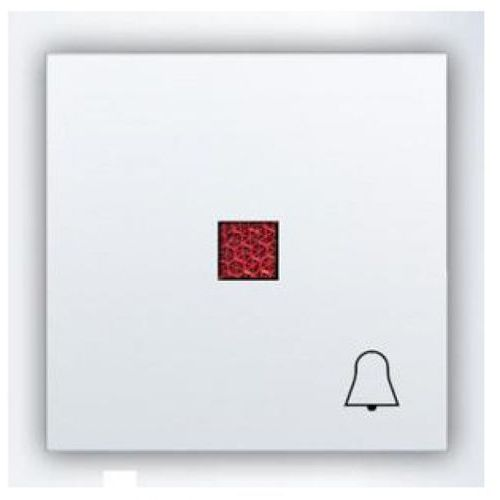 """Hager polo polo.fiorena klawisz z czerw. okienkiem, z symbolem """"dzwonek"""", do łącznika zwiernego podświetl. biały 22009402"""