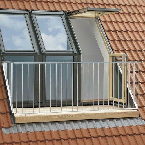 Okno dachowe balkonowe VELUX VEC 2065G M35 78x109 element dolny biały (5702327870445)