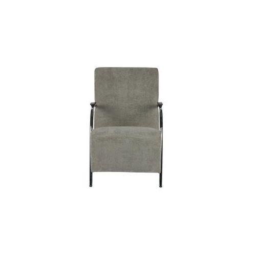 fotel sztruksowy wyblakły zielony - woood 340363-g marki Woood