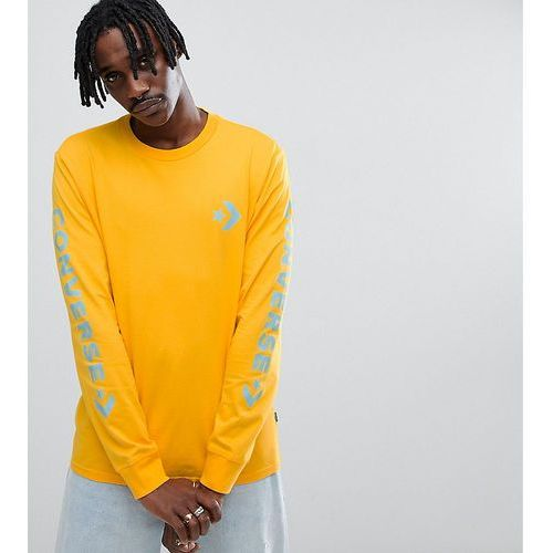 Converse Long Sleeve Top With Arm Print In Yellow Exclusive at ASOS - Yellow, kolor żółty