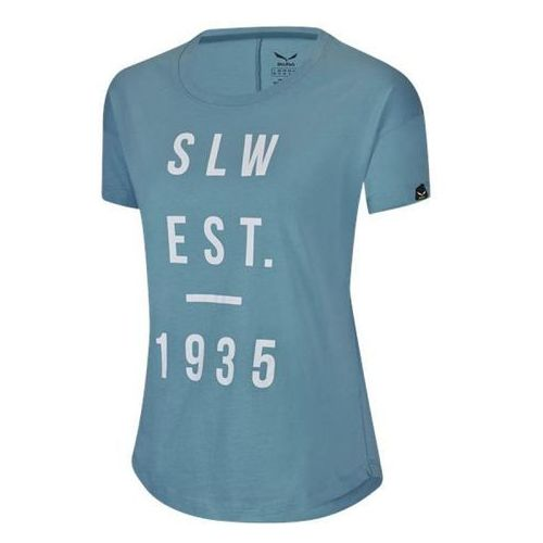 Nowa damska koszulka selby co w s/s tee adriatic blue r.s marki Salewa