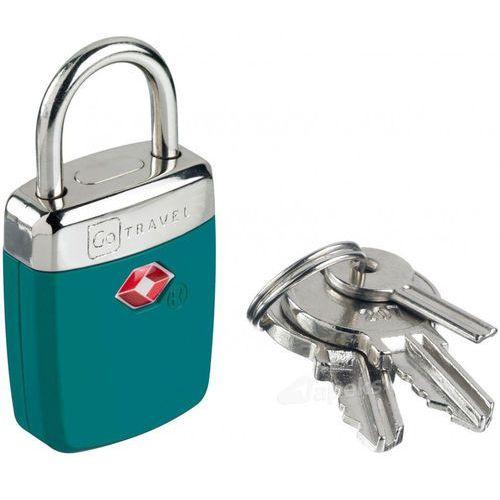 Go travel dg/335 kłódka tsa ze wskaźnikiem alarmowym / stalowa - niebieski
