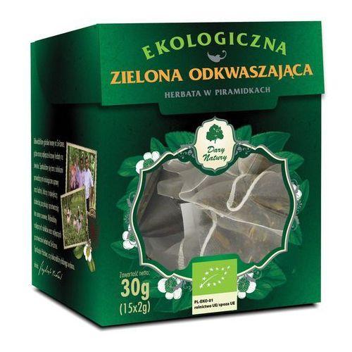 Herbata zielona odkwaszająca piramidki bio (15 x 2 g) - dary natury marki Dary natury - herbatki bio
