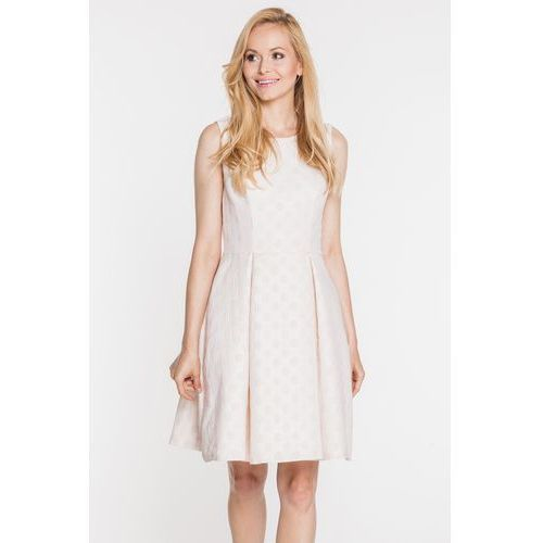 Sukienka w grochy z metaliczną nitką - Bialcon, 1 rozmiar