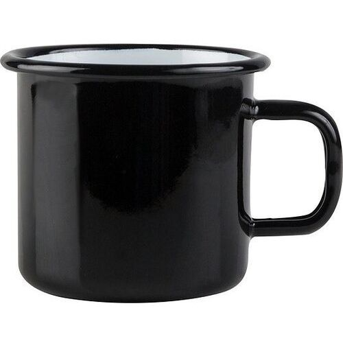 Kubek emaliowany 370ml - MUURLA Basic czarny (6416114948550)