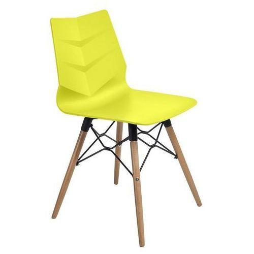 Krzesło Leaf DSW - limonkowy, kolor zielony