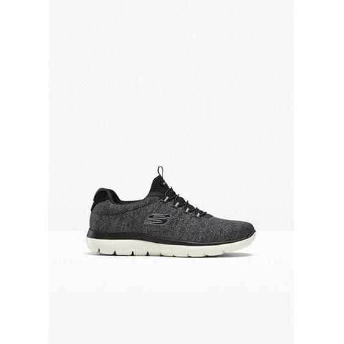 Sneakersy Skechers z pianką Memory bonprix czarno-szary, w 6 rozmiarach