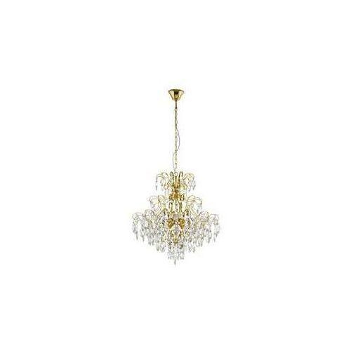 Eglo fenoullet 1 39605 lampa wisząca zwis 5x25w e14 mosiądz/transparentna