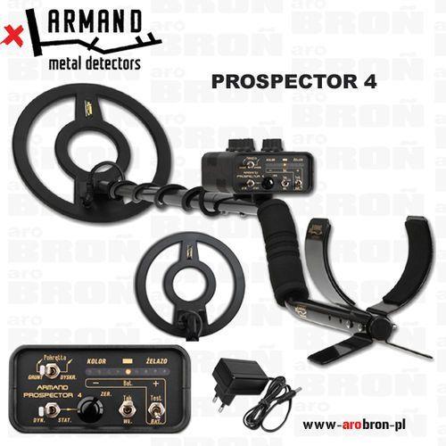 Armand metal detectors Wykrywacz metali armand prospector 4 - nowość - zasilanie akumulatorowe, z latarką led - przeznaczony do militariów i monet.