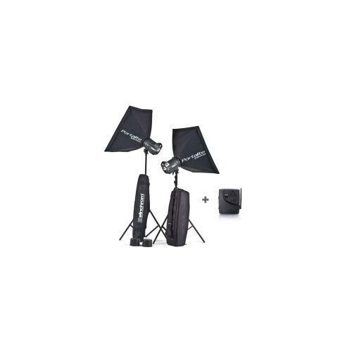 Zestaw lamp błyskowych  brx 250/250 softboxy promocja! wyprodukowany przez Elinchrom