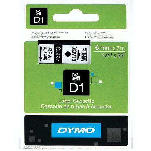 Taśma d1 - 6mm x 7m czarny/biały marki Dymo