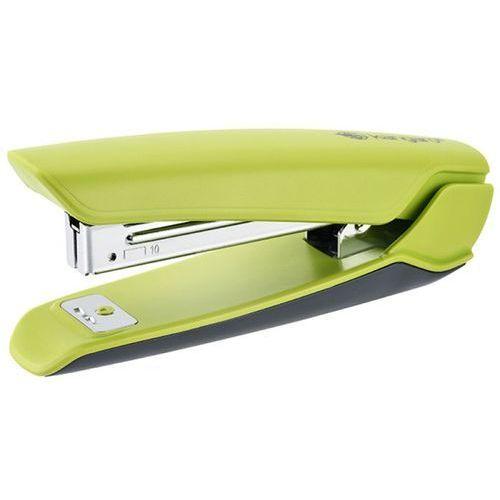 Zszywacz KANGARO Nowa-10/S, zszywa do 15 kartek, plastikowy, w pudełku PP, zielony
