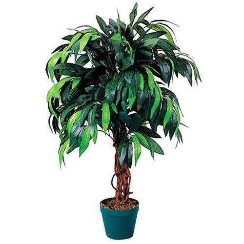 OKAZJA - Greentree Sztuczne drzewo drzewko mango 100 cm kwiaty - mango 100 cm